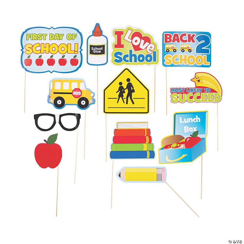 backtoschool photo stick props