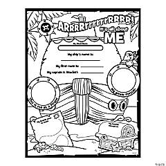 Color Your Own All About Me Pirate Posters