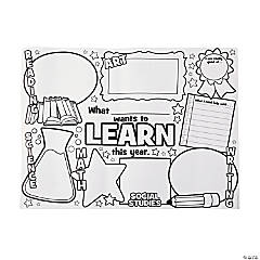 Color Your Own What I Want to Learn Posters