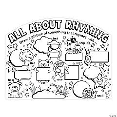 "Color Your Own ""All About Rhyming"" Posters"