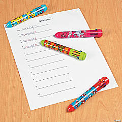 Colored Pens Activity Idea
