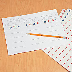 Alphabet Stickers Spelling Activity Idea