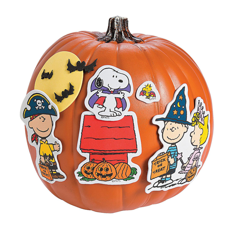 Peanuts halloween pumpkin decorating craft kit