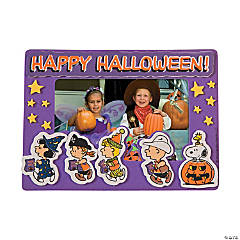 Peanuts® Halloween Picture Frame Magnet Craft Kit