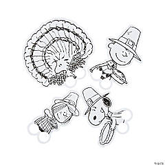Color Your Own Peanuts® Thanksgiving Finger Puppets