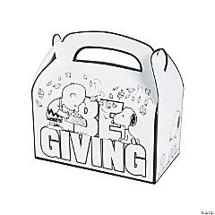 Color Your Own Peanuts® Thanksgiving Treat Boxes