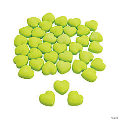Lime Green Candy Hearts
