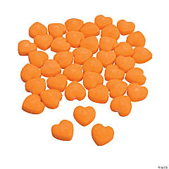 Orange Candy Hearts