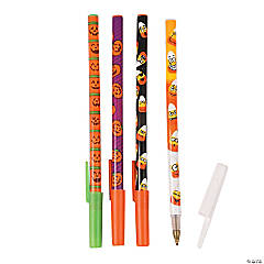Pumpkin & Candy Corn Stick Pens