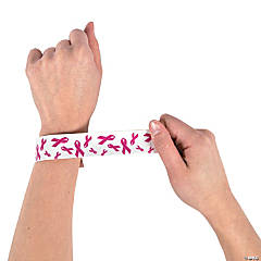 Pink Ribbon Slap Bracelets