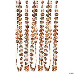 Pumpkin-Shaped Beaded Necklaces