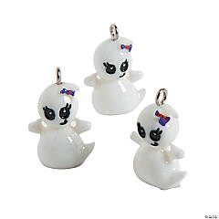 Cute Ghost Charms - 15mm x 20mm