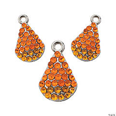 Metal Sparkle Candy Corn Charms