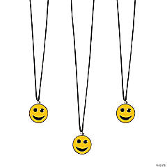 Nylon Smile Face Necklaces