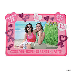 Pink Ribbon Picture Frame Magnet Craft Kit