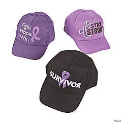 Purple Awareness Ribbon Baseball Hat Assortment