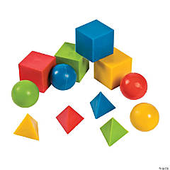 Geometric Shapes Molded Bouncing Balls