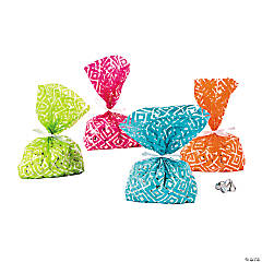 Diamond Pattern Cellophane Bags