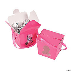 Pink Awareness Ribbon Takeout Boxes