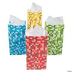 Pixel Pattern Treat Bags