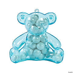 Blue Teddy Bear Containers