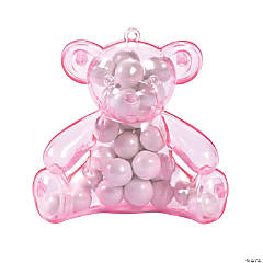 Pink Teddy Bear Containers