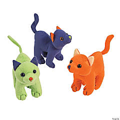 Halloween Arching Stuffed Cats