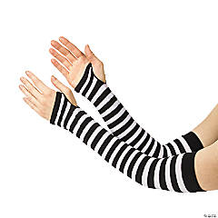 Nylon Black & White Team Spirit Arm Sleeves