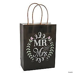 Mr. & Mrs. Chalkboard Wedding Gift Bags