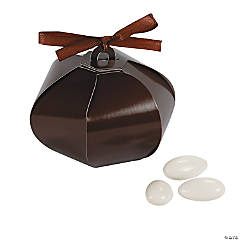 Chocolate Wedding Sphere Favor Boxes
