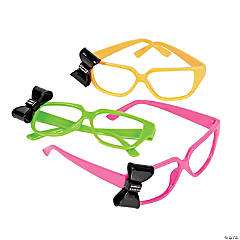 Neon Nerd Glasses with Bow