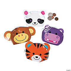 Polypropylene Cute Zoo Animal Coin Purses