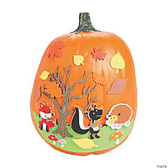 Fall Scene Pumpkin Decorating Craft Kit