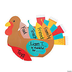 Paper Thankful Turkey Craft Kit