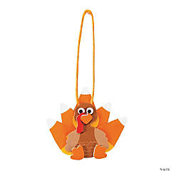 Foam Candy Corn Turkey Ornament Craft Kit