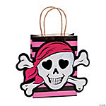 Pink Pirate Kraft Gift Bags