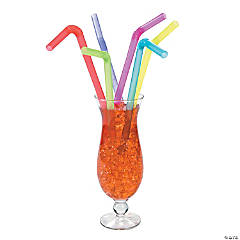 Jumbo Color Flexible Straws
