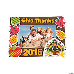 2015 Thanksgiving Picture Frame Magnet Craft Kit