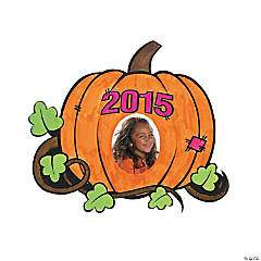 Color Your Own 2015 Pumpkin Patch Magnet Picture Frames