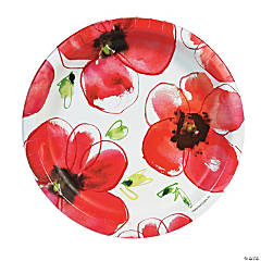 Mod Poppies Dinner Plates