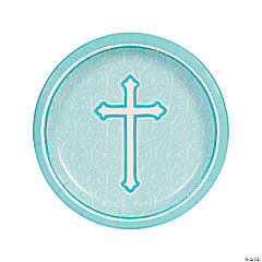 Blue Faith Dinner Plates