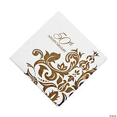 Golden Anniversary Luncheon Napkins