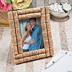 Bottle Corks Wedding Picture Frame Idea