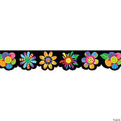 Spring Flowers Bulletin Board Borders