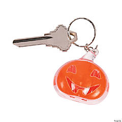 Flashing Pumpkin LED Key Chains