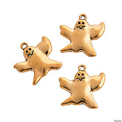 Gold Ghost Charms - 24mm