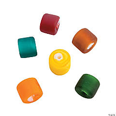 Fall Frosted Tube Beads