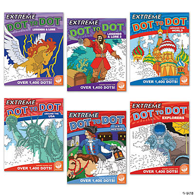 geography extreme dot to dot books set of 6 mind blowing dot to dots ...