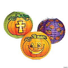 Christian Pumpkin Paper Lanterns