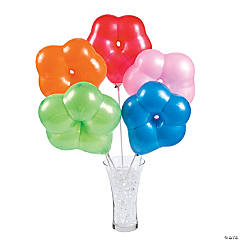 Flower-Shaped Latex Balloons
